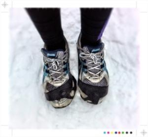 Löpning vinter broddar Linn Johansson