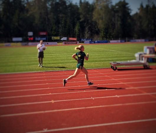 Målspurt Linn Johansson Kvantumloppet 10 km